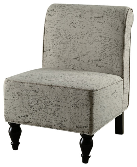 Monarch Specialties 8123 Fabric Traditional Accent Chair in Vintage French traditional-chairs