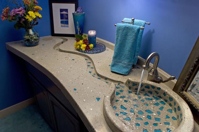 Concrete Bath Sinks contemporary-bathroom-sinks