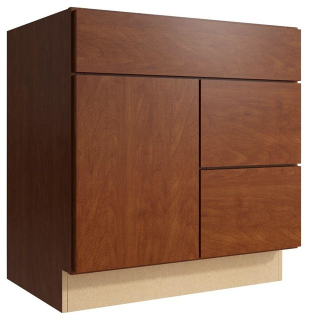 Cardell Cabinets Fiske 30 In W X 31 In H Vanity Cabinet Only In Nutmeg Brown Contemporary