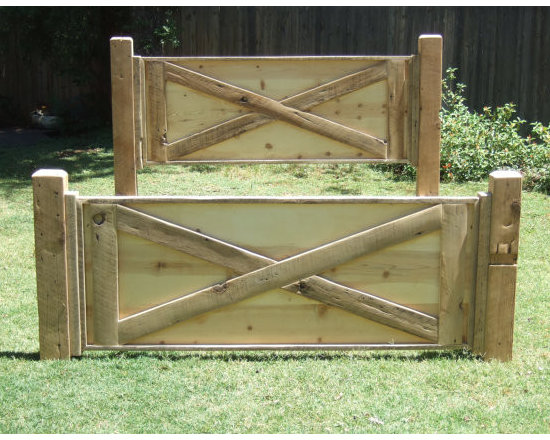 Barn Door Bed - Made with Reclaimed Barn Wood - Arcadian cottage