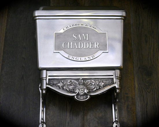 Chadder & Co Toilets and Cisterns - Chadder Bespoke Blenheim Toilet Cistern. High level or Low Level hand Made toilet cistern. You can have your Name, House Name, Initials or favourite saying on the front plaque of your toilet cistern.