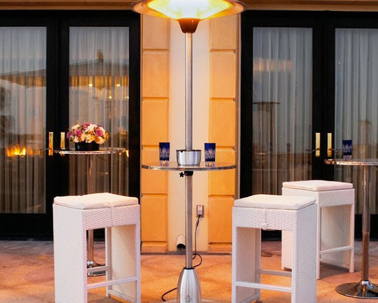 Lava Heat Pub Table Deluxe Electric Patio Heater - With its built-in table and sleek, modern design, the Lava Heat Pub Table Deluxe Electric Patio Heater is more than just an outdoor heater — it's a fun, classic piece of furniture as well. -Mantels Direct
