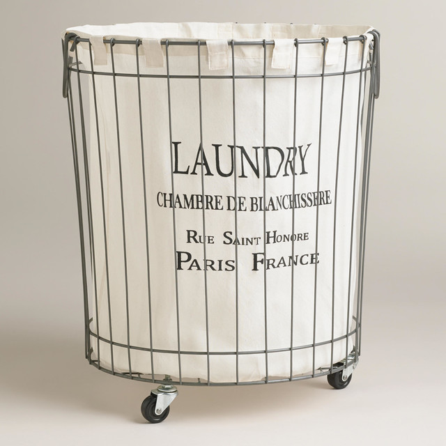 Claudette Wire Hamper - Contemporary - Hampers - by Cost Plus World Market