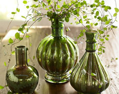 Green Mercury Glass Bud Vases traditional-vases