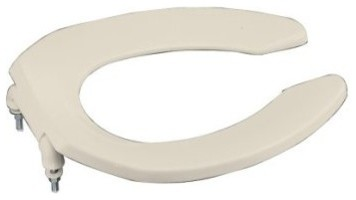 KOHLER K-4670-C-47 Lustra Elongated Toilet Seat with Open-Front and Check Hinge contemporary-toilets