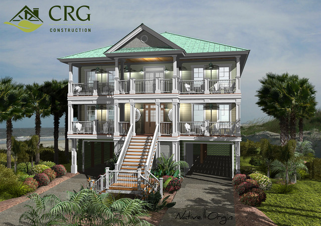 CRG Custom Home Designs tropical-rendering