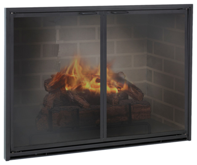 Stiletto Gasketed Aluminum Fireplace Glass Door Custom Product Fireplaces