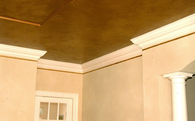 Gold ceiling contemporary