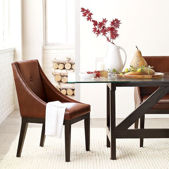 Curved Leather Dining Chair Modern Dining Chairs by  : modern dining chairs from www.houzz.com size 558 x 558 jpeg 68kB