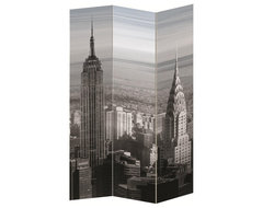 City Printed Folding Screen modern-screens-and-wall-dividers