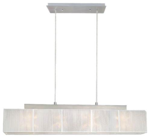 Eglo 21959A Tosca Matte Nickel Island Light contemporary-chandeliers