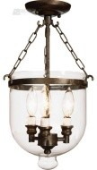 Bell jar apothocary transitional light traditional pendant lighting