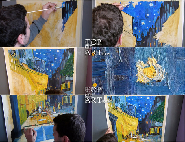 The Cafe Terrace, Arles | van Gogh | Painting Reproduction  | TOPofART.com traditional-artwork