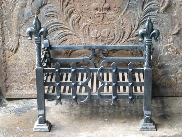 antique fireplace grate basket traditional