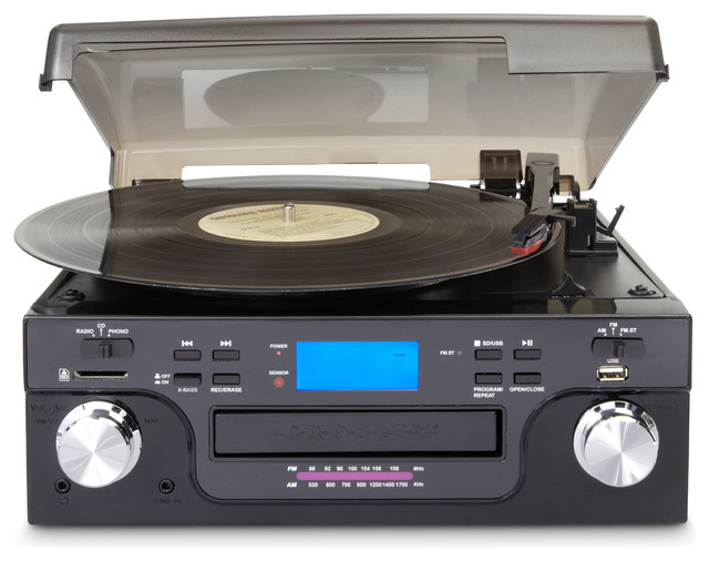 Analog to Digital Tech Turntable - Black - Traditional - Home Electronics - by Pot Racks Plus