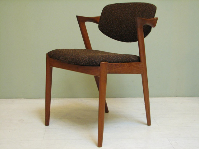 Mid century modern chairs by danish designer kai for Danish design furniture