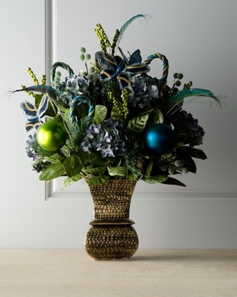 """""""Blue Spruce"""" Christmas Arrangement traditional-holiday-decorations"""
