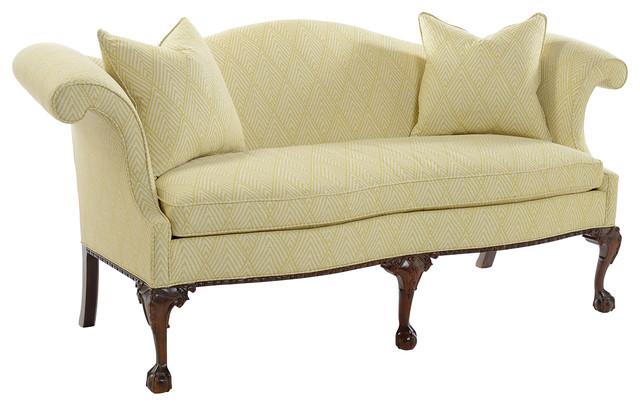 Southwood Claw & Ball Camelback Sofa traditional-sofas