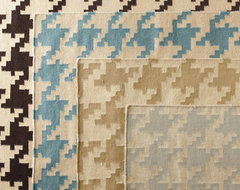 Houndstooth Flat-Weave Wool Rug eclectic-rugs