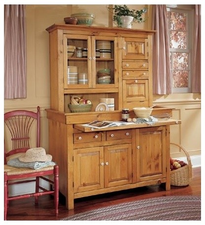 Large Stained Finish Conestoga Cupboard, Honey Pine ...