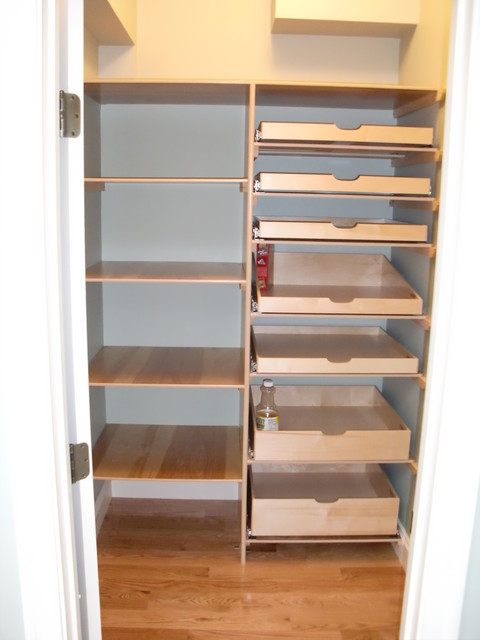 Closet & Walk-In Pantry Pull Out Shelves - boston - by ShelfGenie of ...