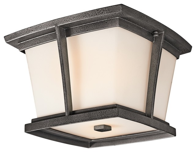 """Arts and Crafts - Mission Kichler Brockton ENERGY STAR 11"""" Outdoor Ceiling traditional-outdoor-lighting"""