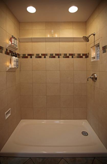 Recessed Bathroom Tile Niches Traditional Bathroom