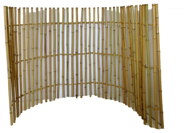 Ornamental bamboo fence 72 quot h x 48 quot w x 48 quot h asian home fencing and