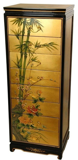 Gold Leaf Eight Drawer Cabinet traditional-dressers-chests-and-bedroom-armoires