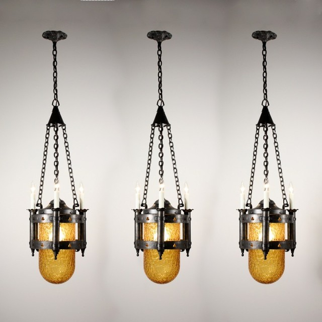 Antique Gothic Revival Lighting traditional-chandeliers