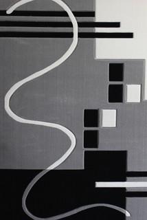 geometric, grey, rug, modern design