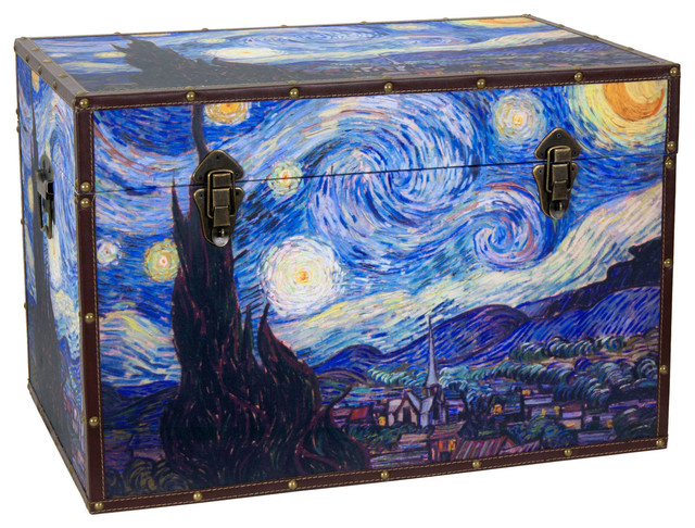 Van Gogh's Starry Night Trunk modern-storage-units-and-cabinets