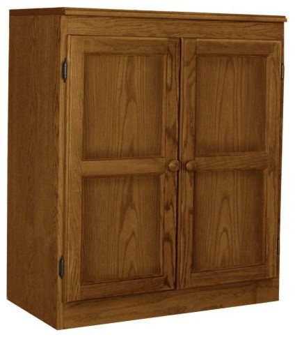 Concepts in Wood Dry Oak KT613C Storage/Utility Closet - Modern - Closet Organizers - by Hayneedle