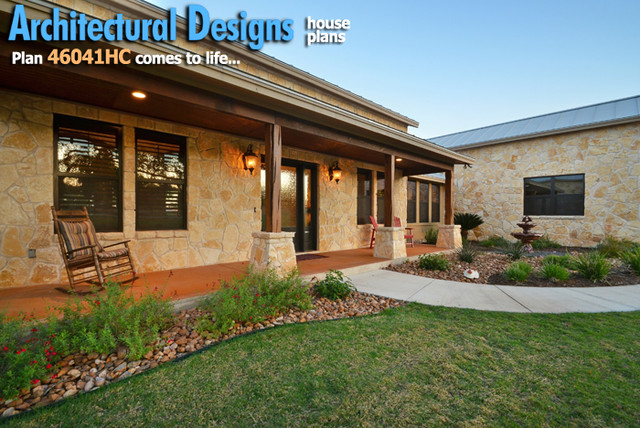 Hill country home with massive porch austin by for Hill country home plans