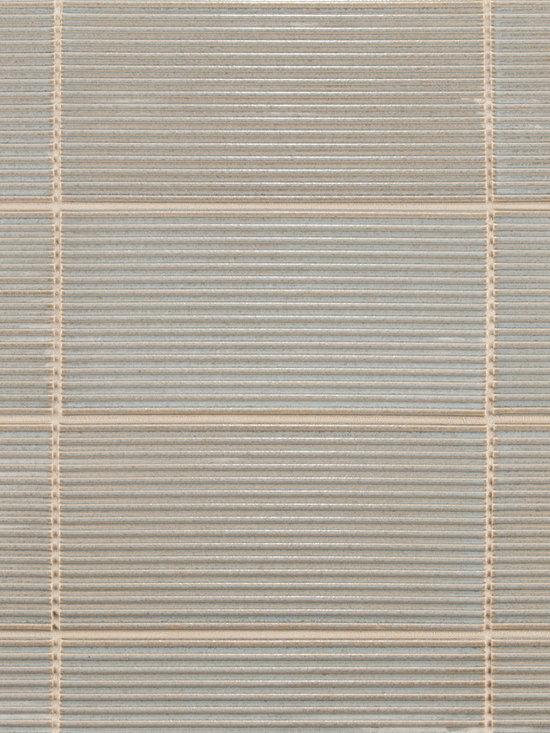 "Ceramic - ANN SACKS Circa 4"" x 8"" interlace ceramic field in blue mist"