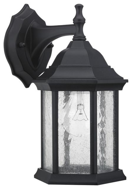 Black Transitional 1 light Outdoor Wall Light contemporary-outdoor-lighting