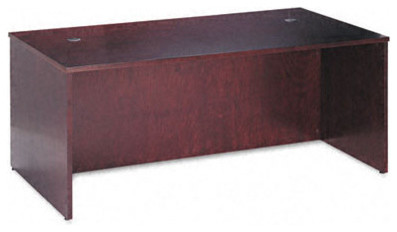 Veneer Executive Desk Shell with Beaded Edge Detail modern-home-office-products