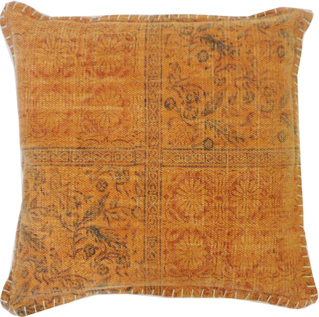 Orange Art Pillow mediterranean-decorative-pillows
