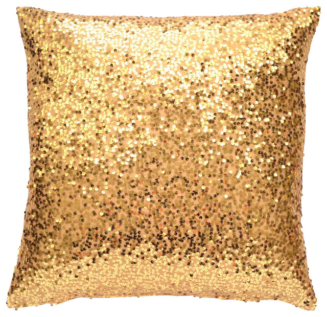 Gold Sequin Pillow Cover - Contemporary - Decorative Pillows - by TwentyEight12