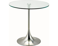 Coronet Accent Table, Satin Steel contemporary-side-tables-and-accent-tables