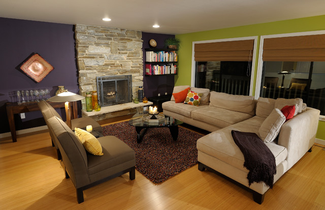 Urban camouflage contemporary living room seattle for Camouflage living room ideas
