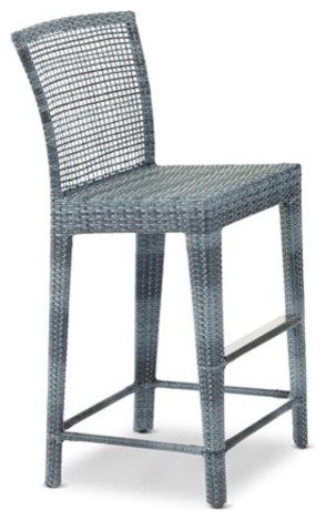 Outback Company Taman All-Weather Wicker Bar Stool contemporary-outdoor-lounge-chairs
