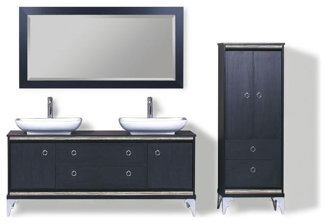 Francaise Iii Modern Double Sink Bathroom Vanity Set 65 Modern Bathroom Vanities And Sink