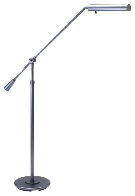 House of Troy Floor Swing Arm Lamp in Granite finish w/adjustable height lighting