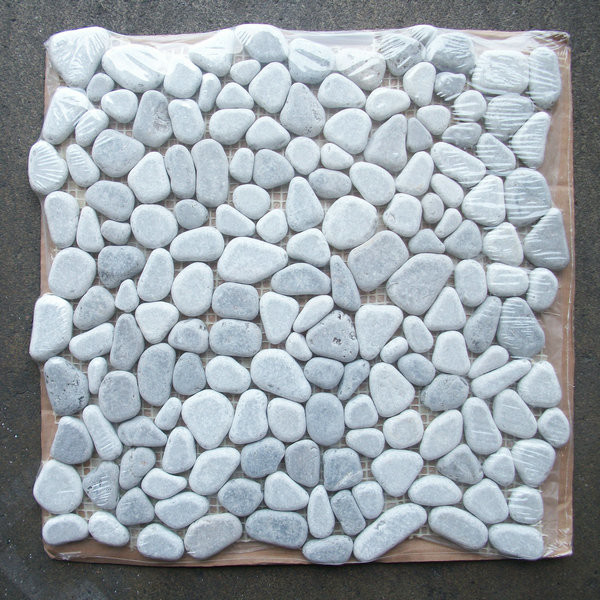 Mosaic Stone Tile Sheets Designs Depiction Of River Rock