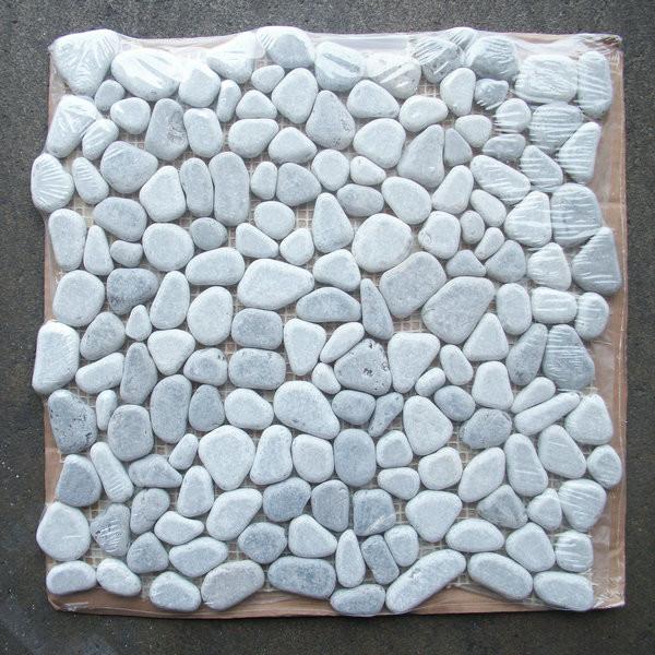 Lagos Azul Mix River Rocks Pebble Stone Mosaic Tile