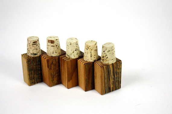 Reclaimed Wood Bottle Stopper by Made for Each Other - Contemporary - Wine Aerators And Stoppers ...