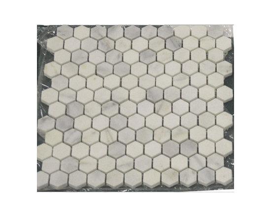 Carrara Marble Hexagon Mosaic Tile -