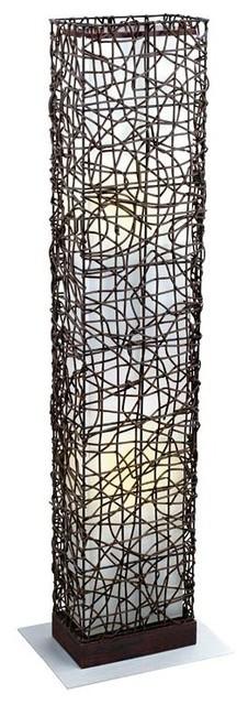 Eglo 89562A Dark Brown 2X40W Floor Lamp modern-floor-lamps