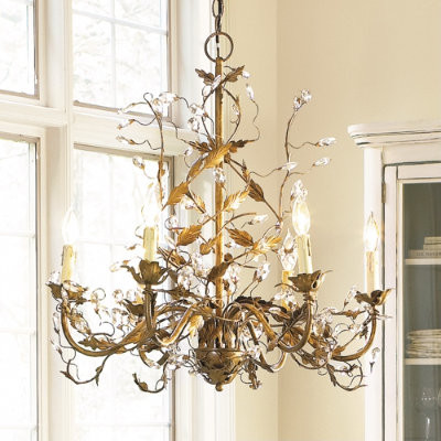 6-Arm Grande Claire Chandelier traditional-chandeliers
